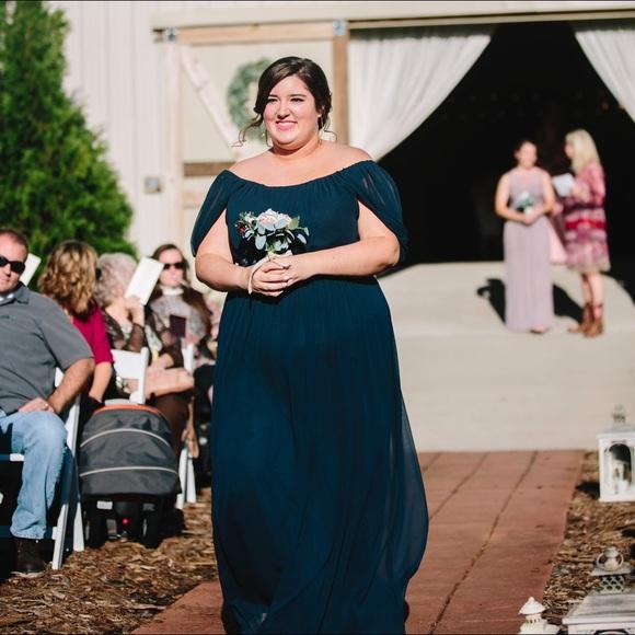 Navy Bridesmaids Dress — Plus Size